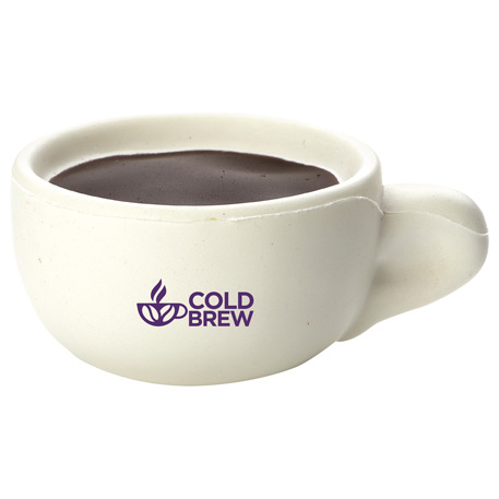 Coffee Cup Stress Reliever, SM-3062, 1 Colour Imprint
