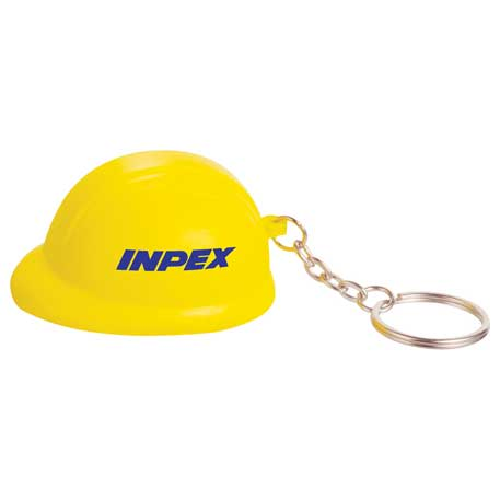 Hard Hat Keychain, SM-2676 - 1 Colour Imprint