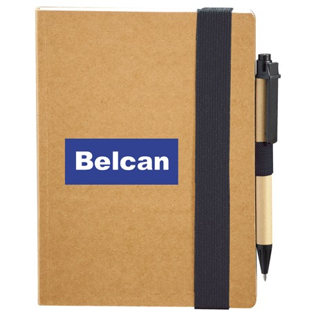 The Eco Perfect Bound Notebook with Pen, SM-3448 - 1 Colour Imprint