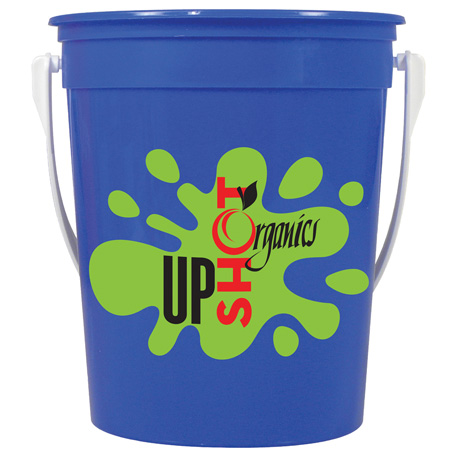 32oz Pail with Handle, HL-104, 1 Colour Imprint