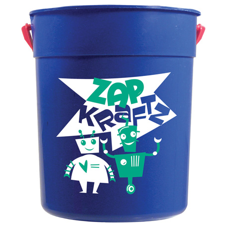 87-oz. Pail with Handle, HL-107 - 1 Colour Imprint