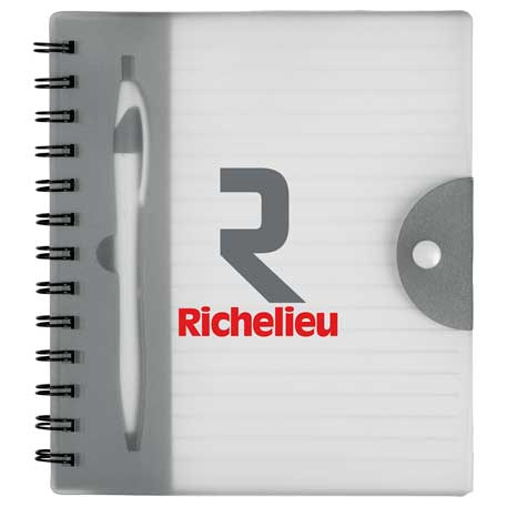 """7"""" x 6"""" Hideaway Spiral Notebook with Pe, SM-3430, 1 Colour Imprint"""
