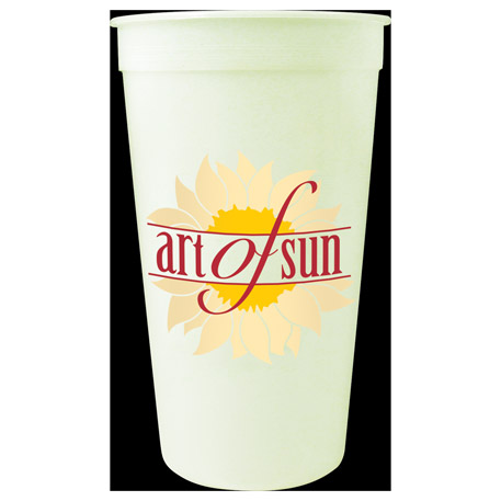 32-oz. Glow Stadium Cup, HL-533 - 1 Colour Imprint