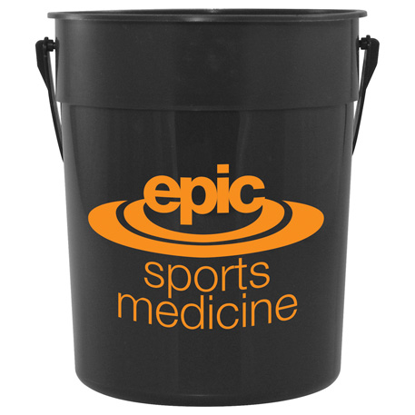 87-oz. Recycled Pail with Handle, HL-147 - 1 Colour Imprint