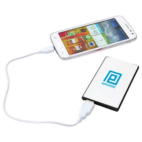 Slim Credit Card 2,000 mAh Power Bank, SM-3937, 1 Colour Imprint
