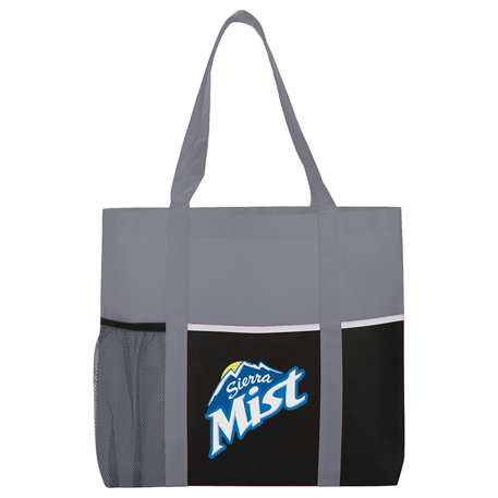 Non-Woven Multi-Pocket Tote, SM-7113, 1 Colour Imprint