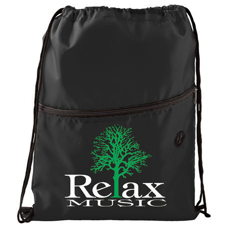 Insulated Zippered Drawstring Bag, SM-7054, 1 Colour Imprint