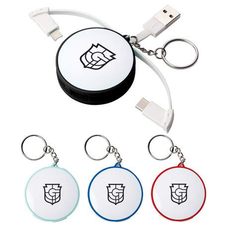 Wrap Around 3-in-1 Charging Cable, SM-3663, 1 Colour Imprint