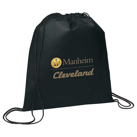 Evergreen Non-Woven Drawstring Bag, SM-7434, 1 Colour Imprint