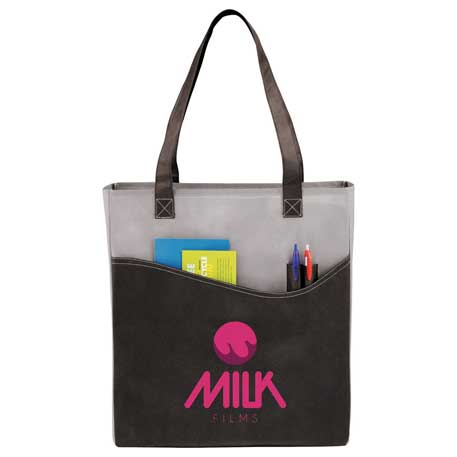 Rivers Pocket Non-Woven Convention Tote, SM-7325, 1 Colour Imprint