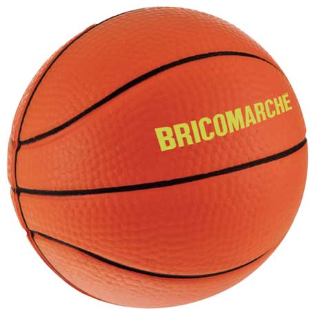 Basketball Stress Reliever, SM-3388 - 1 Colour Imprint