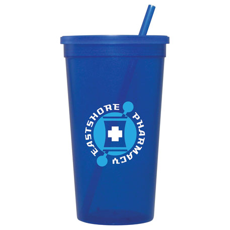 32-oz. Jewel Tumbler w/ Lid & Straw, HL-JT32 - 1 Colour Imprint