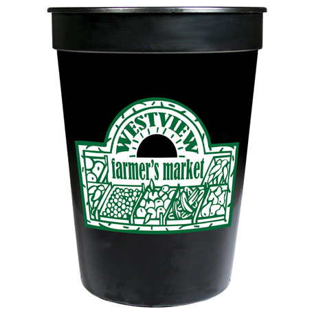 Solid 12oz Stadium Cup, HL-513, 1 Colour Imprint