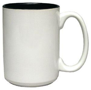 Custom 15 Oz. Colorful El Grande Mug (White out/Colors in)
