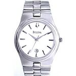 Custom Bulova Men's Stainless Steel Round Dial Dress Watch w/ Calendar