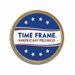 Custom Round Polished Brass Metal Lapel Pin (1