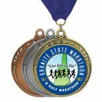 Custom Full color 5 Star Galaxy Medal