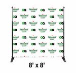 Custom 8'x8' Step and Repeat Banner with Frame