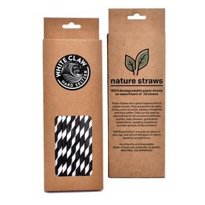 Craft Gift Box Paper Straws