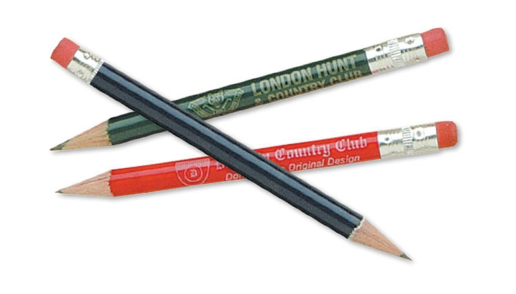 Golf Pencil - Wood With Eraser - 1 Colour Imprint