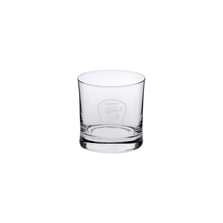 Gemma Double Old Fashion Glass 8.5 oz. - Deep Etched Imprint