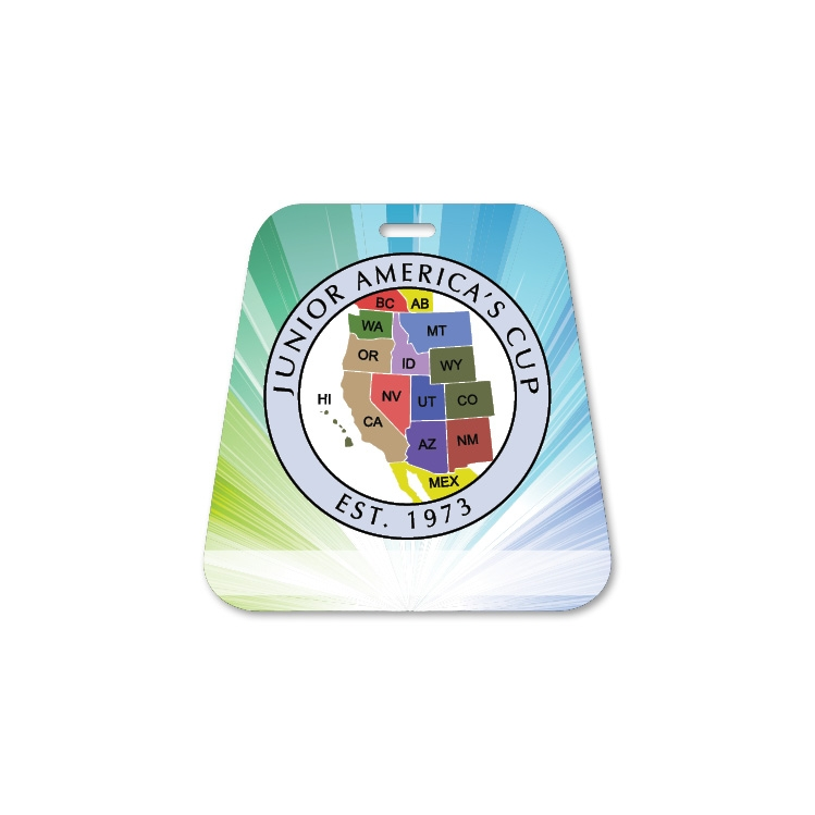 Pyramid Plastic Bag Tag - Full Colour Imprint