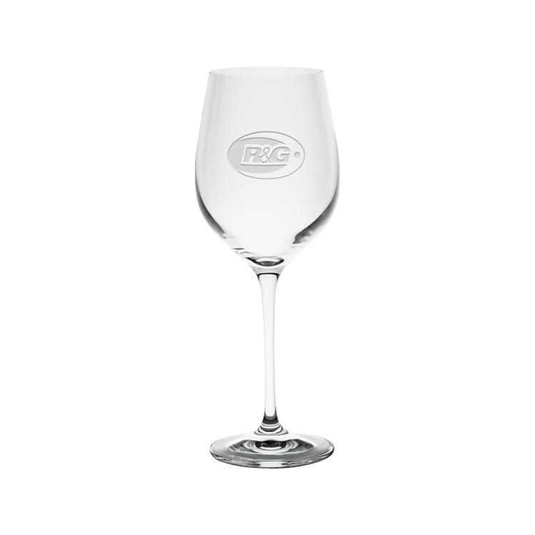 Harmony White Wine Glass 13 oz. - Deep Etched Imprint