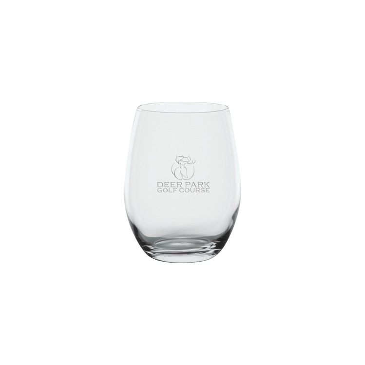 Napa Stemless Wine Glass 17 oz. - Deep Etched Imprint