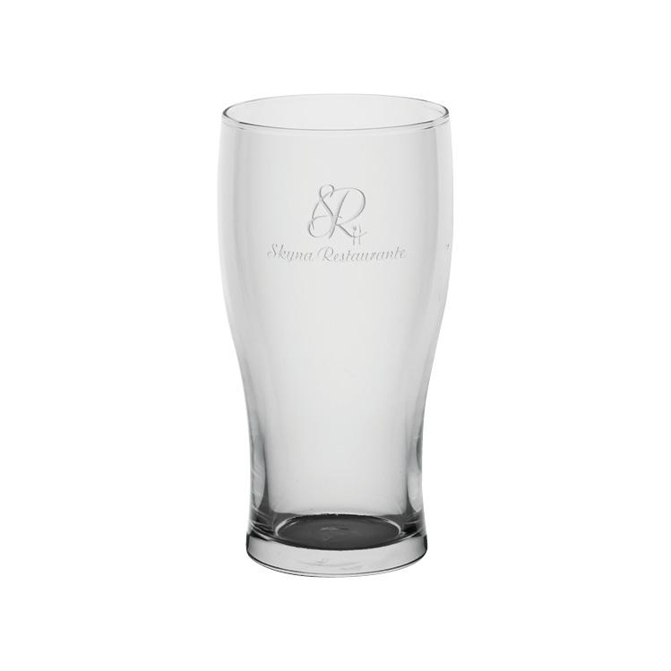Traditional Pub Glass 15.5 oz. - Deep Etched Imprint