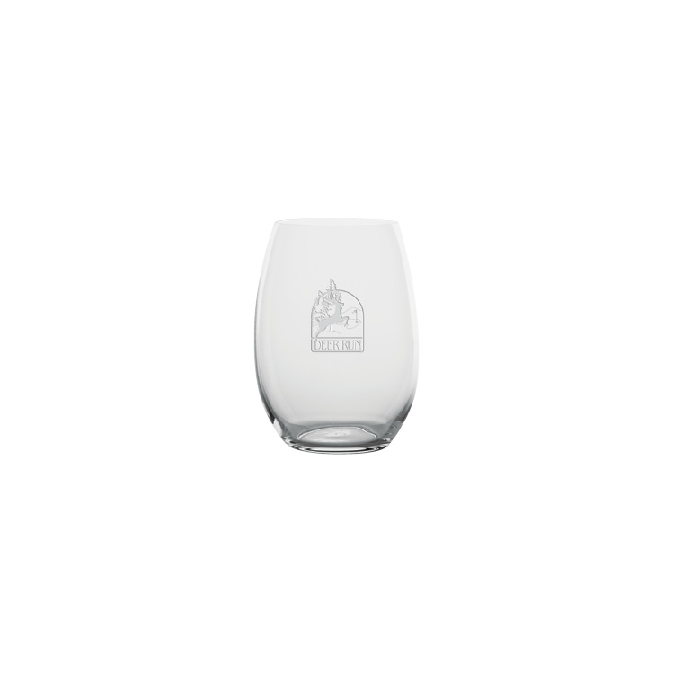 Crystallin Stemless Wine Glass 19 oz. - Deep Etched Imprint