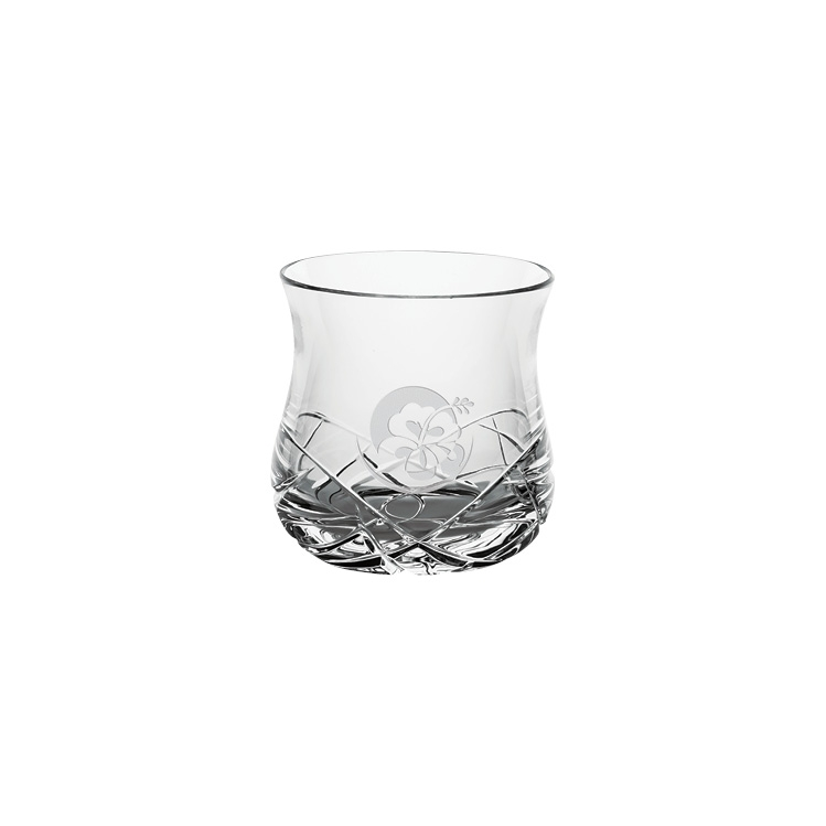 10 oz. Oslo Double Old Fashion Glass - Deep Etched Imprint
