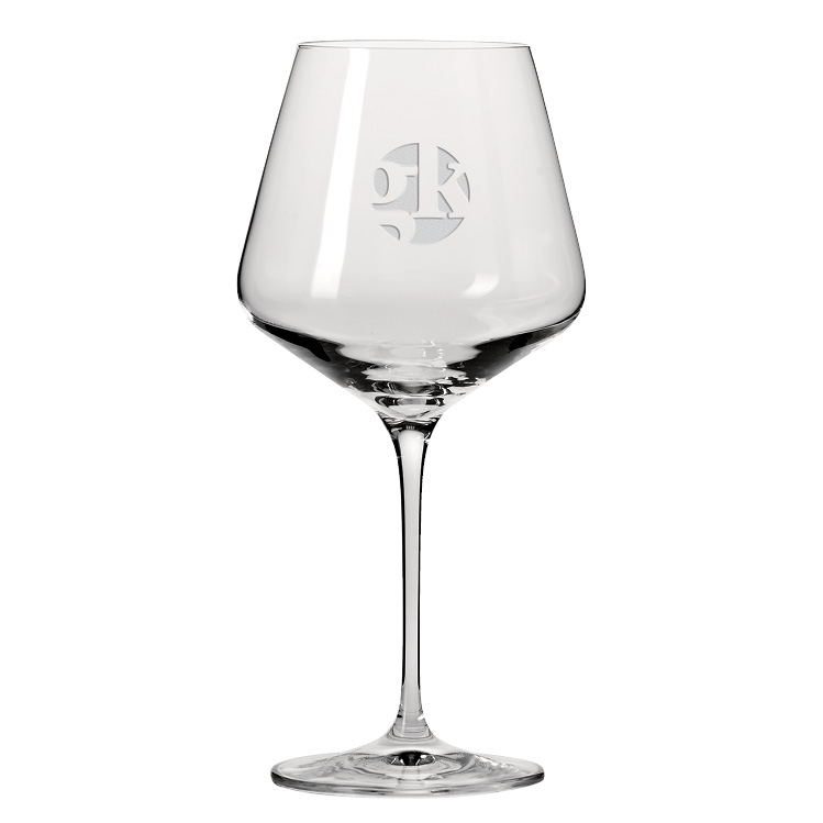 16 oz. Obsession Burgundy Wine Glass - Deep Etched Imprint
