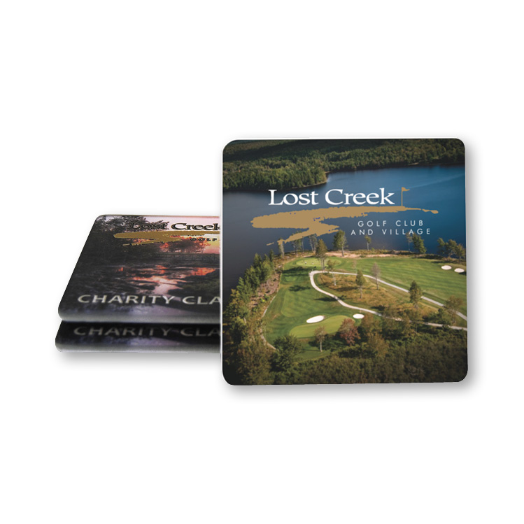 Glass Coaster Set - Full Colour Imprint