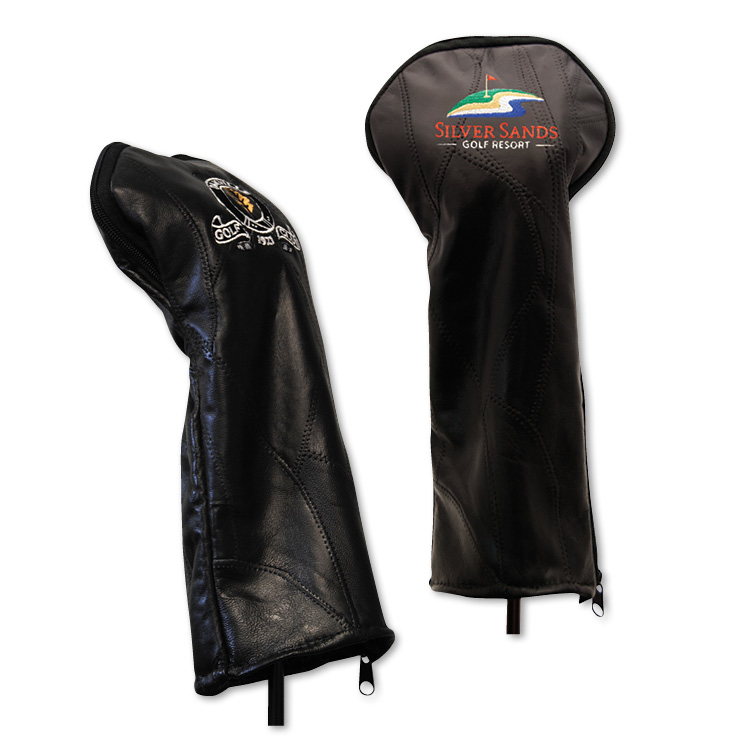 Patch Leather Headcover - Embroidered Up To 5000 Stitches