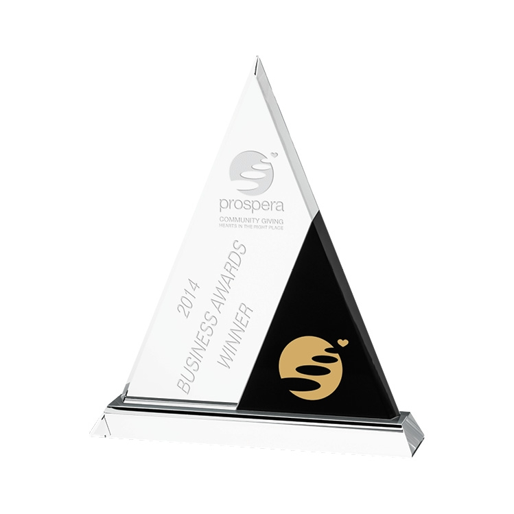 Black Accent Trophy - Deep Etched Imprint