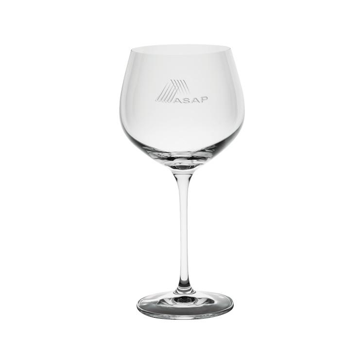 Harmony Burgundy Wine Glass 19 oz. - Deep Etched Imprint