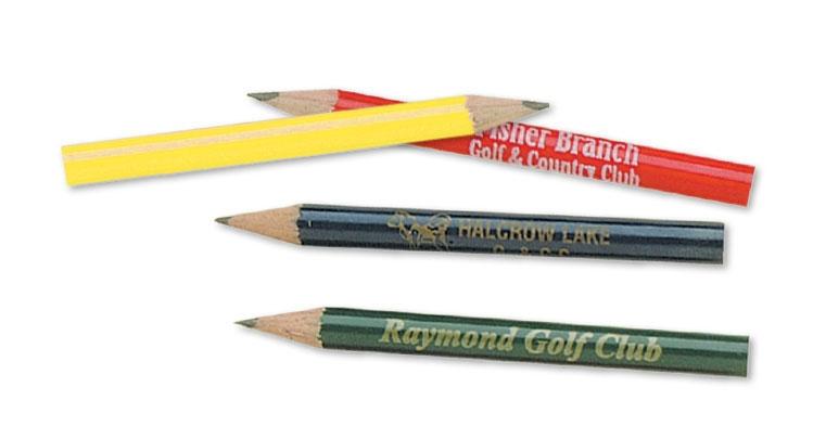 Golf Pencil - Wood No Eraser - 1 Colour Imprint