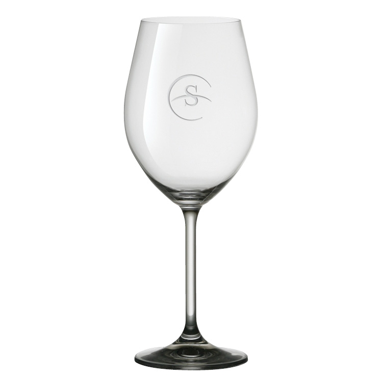 17 oz. Gourmet White Wine Glass - Deep Etched Imprint