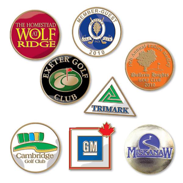 Enamel Golf Ball Marker - Die Struck Imprint