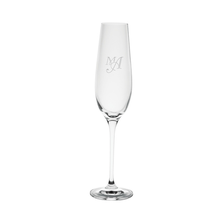 Harmony Champagne Glass 6.8 oz. - Deep Etched Imprint