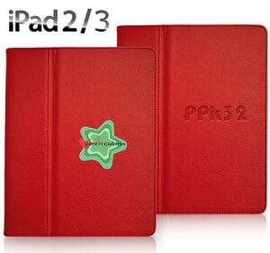 Classic Smartcase for iPad 2/3/4 - Red (Full Color or Debossed Logo)