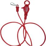 Red ABS Bungee Cord Luggage Strap w/ Clip (36