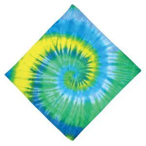 Bright Green Spiral Bandana