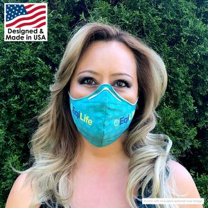 2-Layer Microfiber Face Mask with Nose Bridge - Reusable and Washable