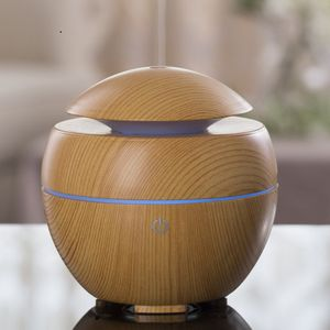 iMist Aroma Essential Oil Diffuser, Humidifier with LED, Wood Grain