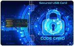 Custom Ultra-Thin USB Code Card with Encryption and Password Protection (8 - 64 GB)