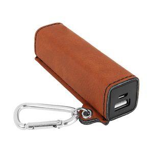 Custom Rawhide Leatherette 2200 mAh Power Bank w/ USB Cord