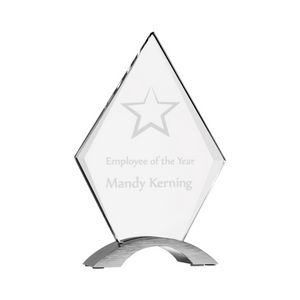 8 1/2 Diamond Cosmic Acrylic Award w/ Silver Base