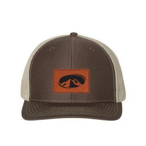 Richardson #112 Snapback Trucker Hat w/Leatherette Adhesive Patches
