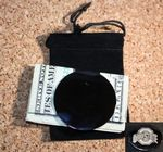 Custom Polished Rhodium Round Money Clip